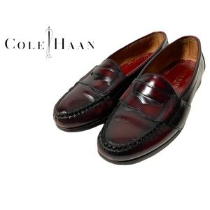 Cole Haan Reddish Brown Leather Loafers